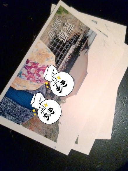 昨晚印製的明信片