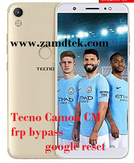 Tecno Camon CM frp bypass, google reset and pattern removal