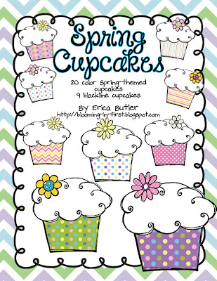 Growing Little Minds Spring Cupcakes