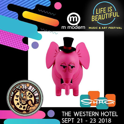 Life Is Beautiful Exclusive The Pink Elephant Vinyl Figure Coin Bank by SHAG x 3DRetro