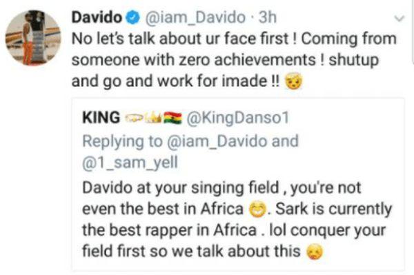 Davido Blasts A Fan