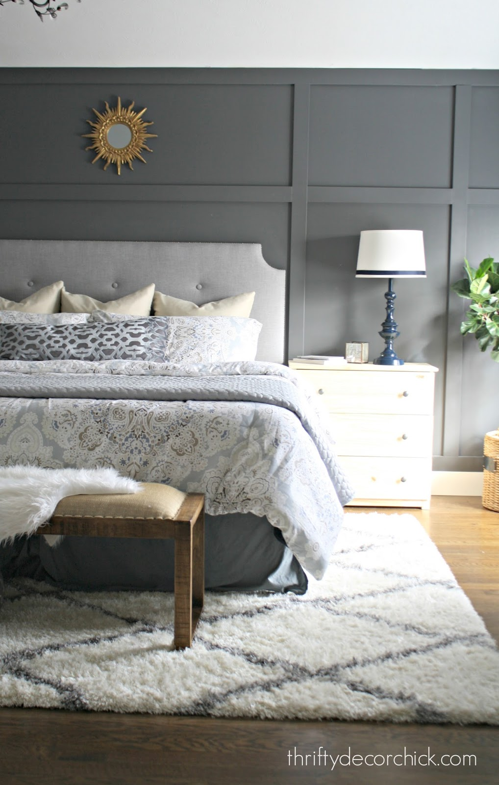 new bedding in the master and more diy pillows from thrifty tarva ikea dresser as nightstand