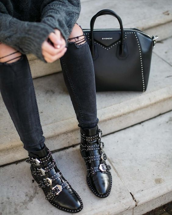 Givenchy Studded Antigona Bag Givenchy Studded Ankle Boots