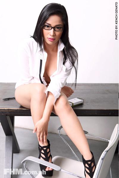 alyzza agustin sexy fhm model 01