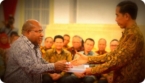 Inilah Hasil Pertemuan Lukas Enembe dan Jokowi Terkait Freeport Indonesia