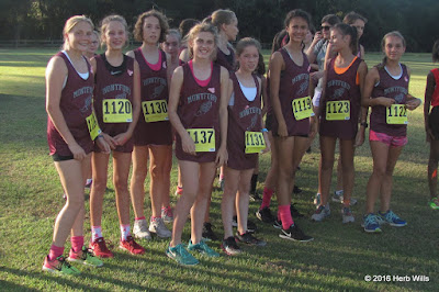 2016 Montford Middle School girls' cross-country team