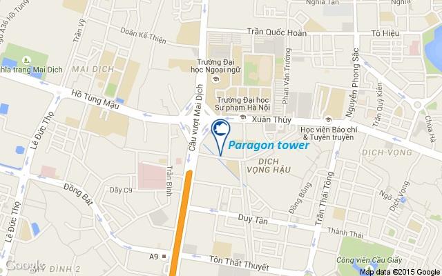 Vị trí của dự án chung cư Paragon Tower