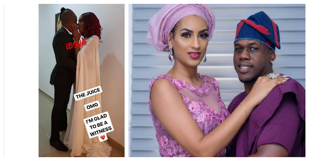 Juliet Ibrahim and Nigerian boyfriend, Iceberg Slims finally marries secretly (photos)