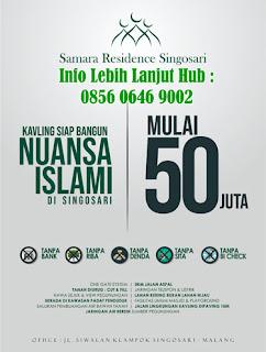 Samara Residence Singosari, Jual Tanah Kavling Siap Bangun Nuansa Islami