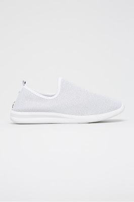 Answear - Pantofi SDS sport de dama albi cu talpa de spuma foarte lejeri