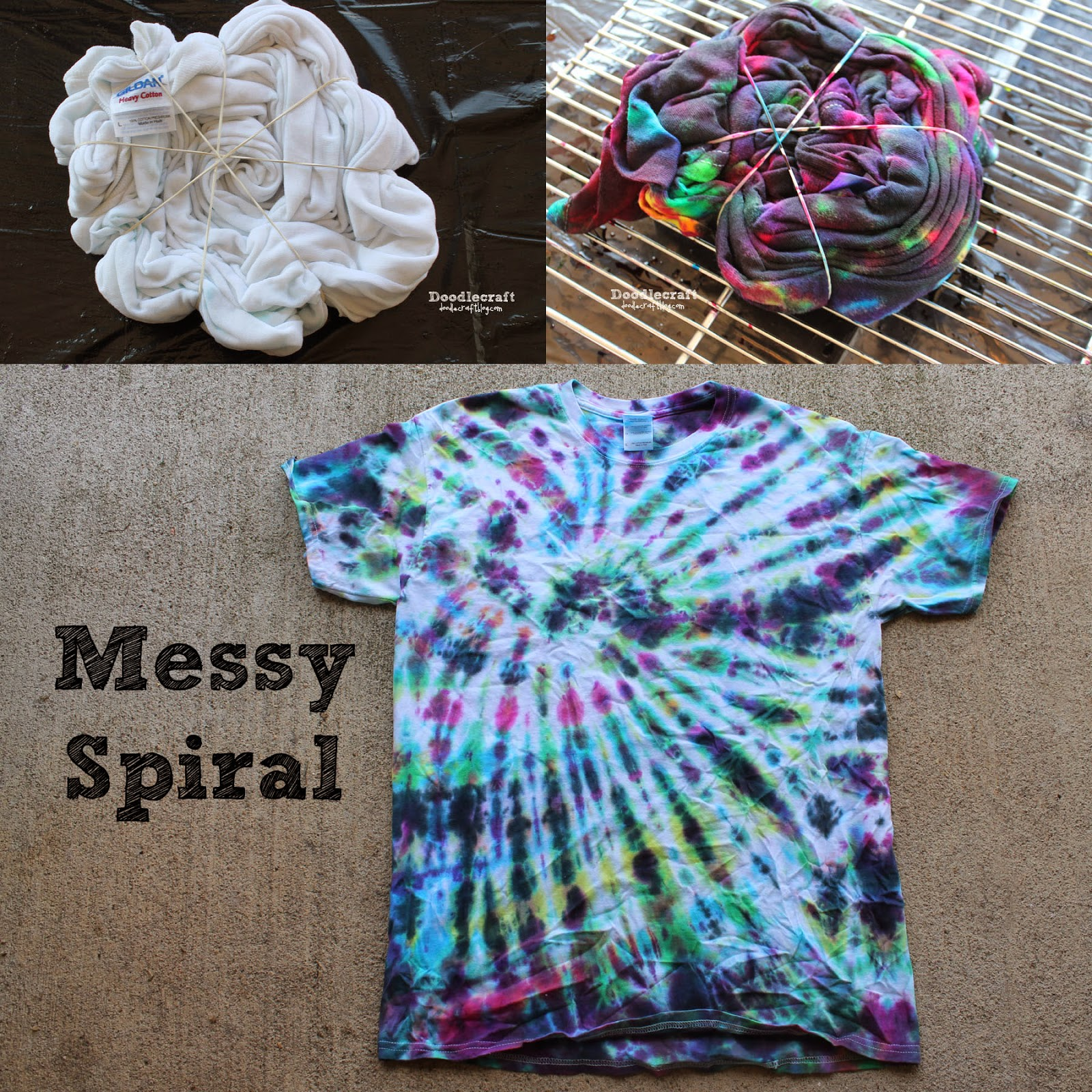Tulip Tie Dye T Shirt Party