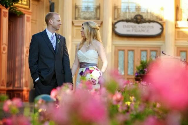 Disney Wedding Inspiration: Wendy and Greg's Magic Kingdom and Epcot Bridal Portraits