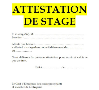 attestation de stage doc, attestation de stage vierge, attestation de stage en entreprise doc, attestation de stage maroc word, demande attestation de stage, attestation de stage en cours, modele attestation de stage de formation,