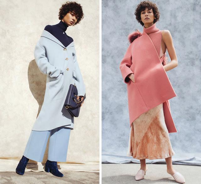 Монохромные сочетания в одежде синего и розового