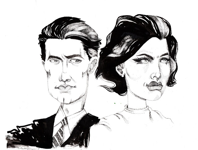 Twin Peaks Fan Art Ink Portrait