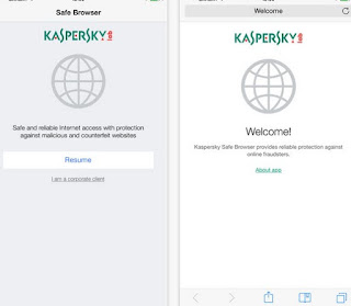 App Kaspersky Safe Browser