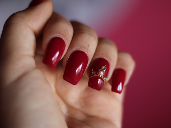 As minhas unhas - Vermelhas com Coroa #14