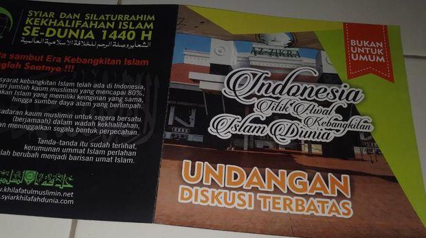 Polisi Tak Beri Izin Syiar Khilafah di Masjid Az-Zikra Bogor