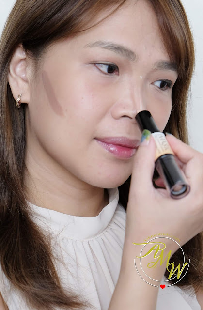 a photo of IMAGIC PROfessional Cosmetics Highlight & Contour Stick Review.  How to Contour and highlight using IMAGIC Contour and Highlight stick.