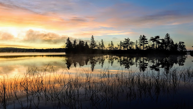 Sunrise over Porters Lake Nova Scotia, by Murray Douglas