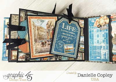 Cityscapes Mini ALbum, Graphic 45, Danielle Copley, Scrapbookmaven.com, photo 5