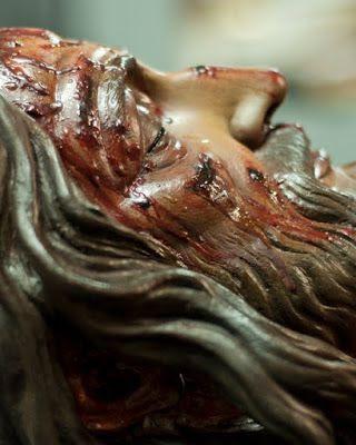 Cristo fue limpiado su rostro por la veronica
