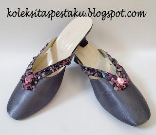 Slop Pesta Terbaru Polish Metalic Payet Nuansa Pink