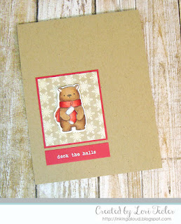 Deck the Halls card-designed by Lori Tecler/Inking Aloud-stamps from Hello Bluebird