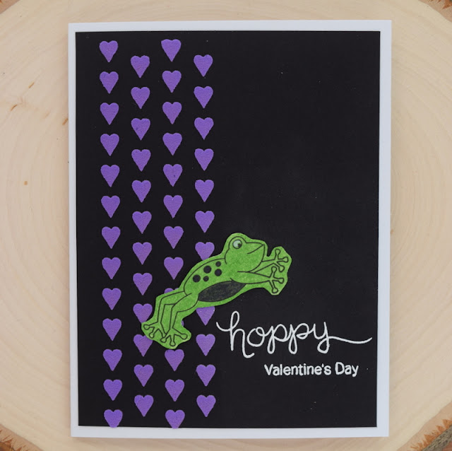 Frog Valentine Card by Jess Gerstner for Newton's Nook Designs