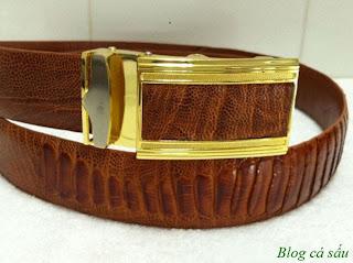 dây lưng đà điểu vàng 11