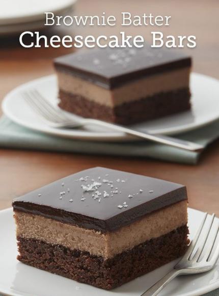 Brownie Batter Cheesecake Bars