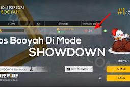 Tips Menang atau Booyah Di Mode Showdown Free Fire Dengan Mudah