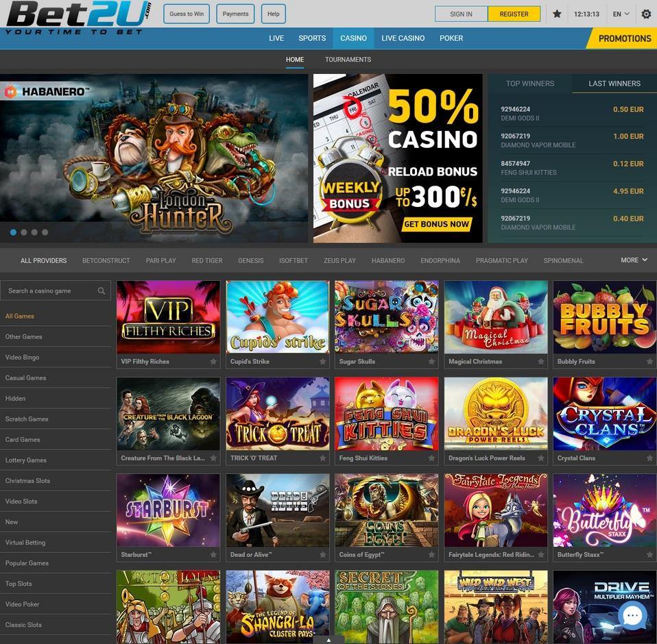 Bet2u Screen