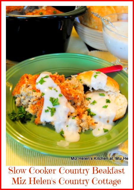 Slow Cooker Country Breakfast at Miz Helen's Country Cottage