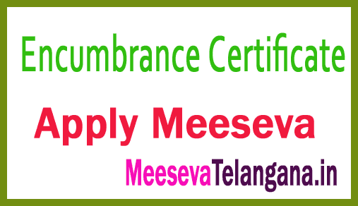 Encumbrance Certificate (EC) Apply on Meeseva