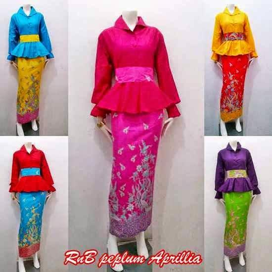 Model Baju Batik Wanita 2015: Baju Wanita Model Setelan Batik Rok Blus