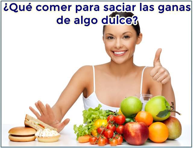 Ejemplos de alimentos para reemplazar las ganas de comer postre