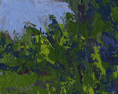 art painting closeup texture palette knife acrylic