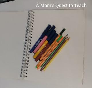 pens, pencils, paper, markers