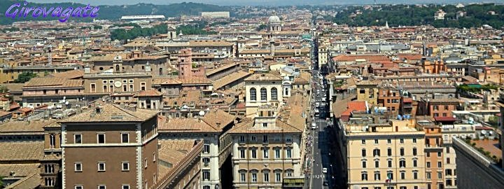 Il pi bel panorama su Roma dalla terrazza delle Quadrighe sul Vittoriano