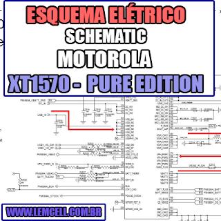 Esquema Elétrico Smartphone Motorola Moto X Style XT1570, XT1572, XT1575 Moto X Pure Edition  Manual de Serviço