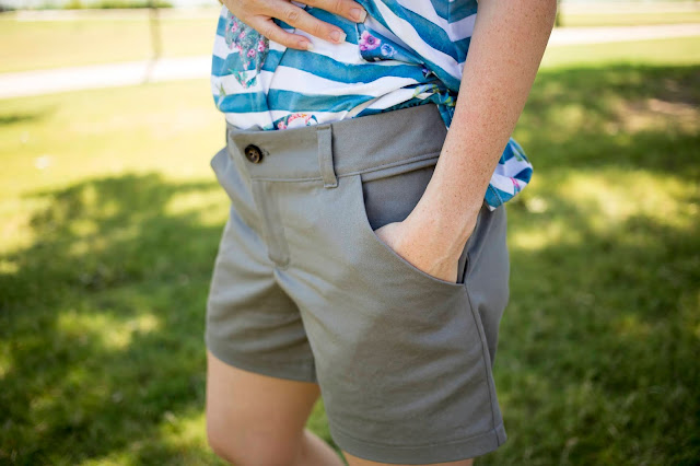 Women's woven shorts sewing pattern review