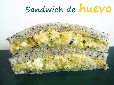 sandwich de huevo ensalada receta cocina gastronomia vegetal bocadillo mayonesa light yogur griego light