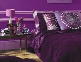 color morado en interiores