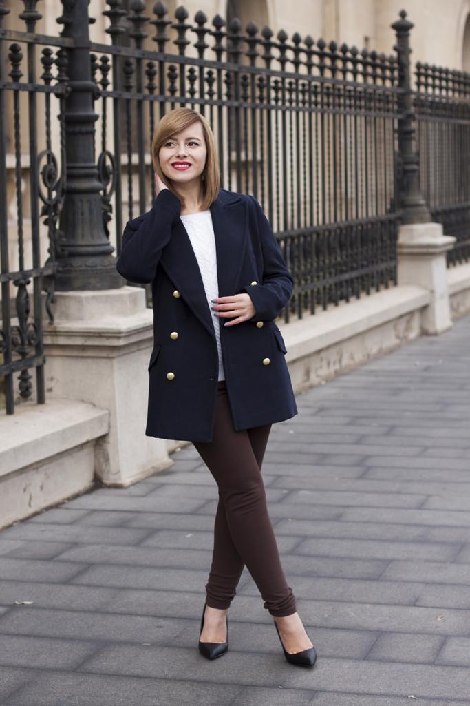brown skinny trousers