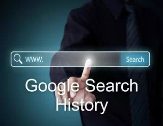 how to find google search history in hindi