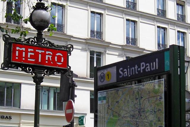 Estación de metro de Saint-Paul en la línea 1 de metro en París