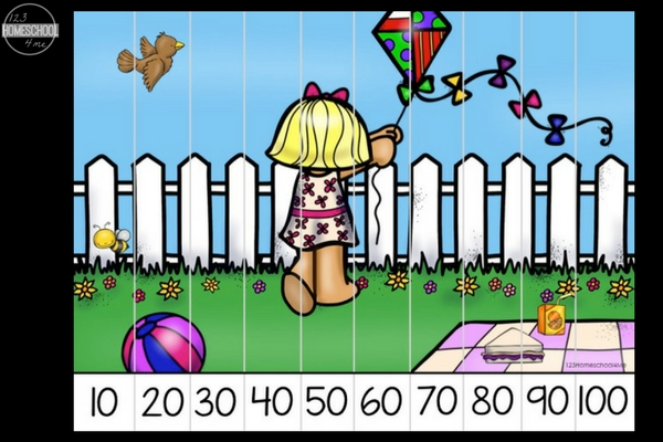 Skip counting helps kids understand how numbers work and relate to each other. Grab these free summer skip counting puzzles for your children!