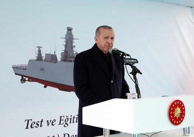 Κατασκοπευτικό πλοίο καθέλκυσε ο Ταγίπ Ερντογάν