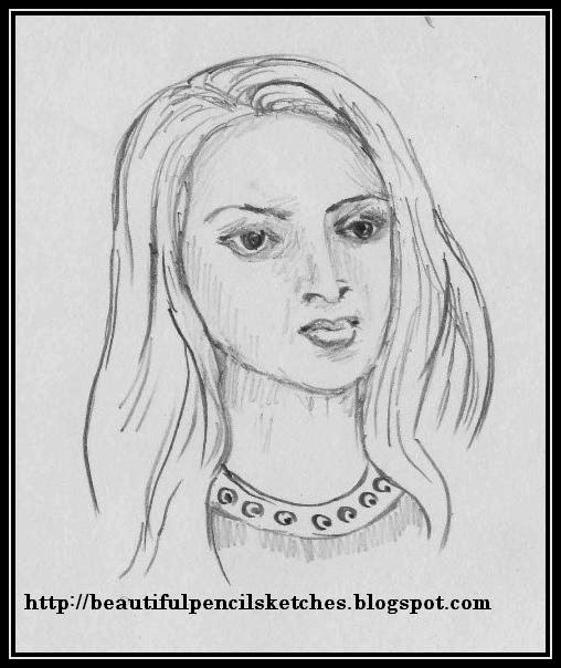 10 simple 5 minutes female face drawing reference pencil sketches for practice